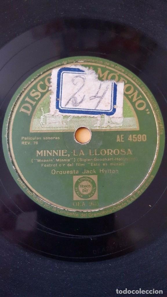 Discos de pizarra: DISCO 78 RPM - GRAMOFONO - ORQUESTA JACK HYLTON - FILM - ESTO ES MUSICA - FOXTROT - JAZZ - PIZARRA - Foto 2 - 170485796