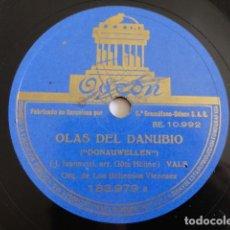 Discos de pizarra: LOS BOHEMIOS VIENESES - OLAS DEL DANUBIO / SALUDOS A VIENA - ODEON 183.979. Lote 170511088