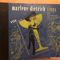 Discos de pizarra: ÁLBUM 3 DISCOS DE PIZARRA MARLENE DIETRICH SINGS.VOX. Lote 170513822