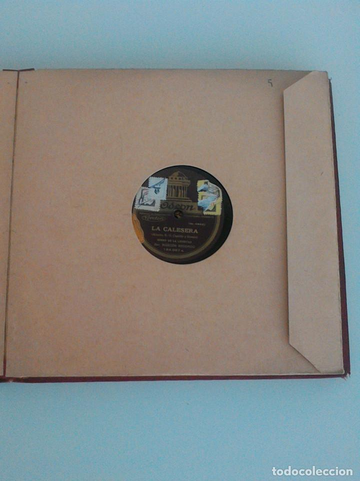 Discos de pizarra: ALBUM COMPLETO, 12 DISCOS DE PIZARRA. ODEON, GRAMOFONO, PARLOPHON. ZARZUELA, VALS, MILONGA, FOXTROT. - Foto 15 - 170900935