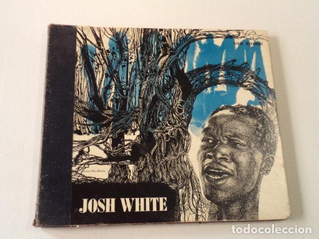 ÁLBUM CON 3 DISCOS 78 RPM SONGS BY JOSH WHITE - USA (Música - Discos - Pizarra - Jazz, Blues, R&B, Soul y Gospel)