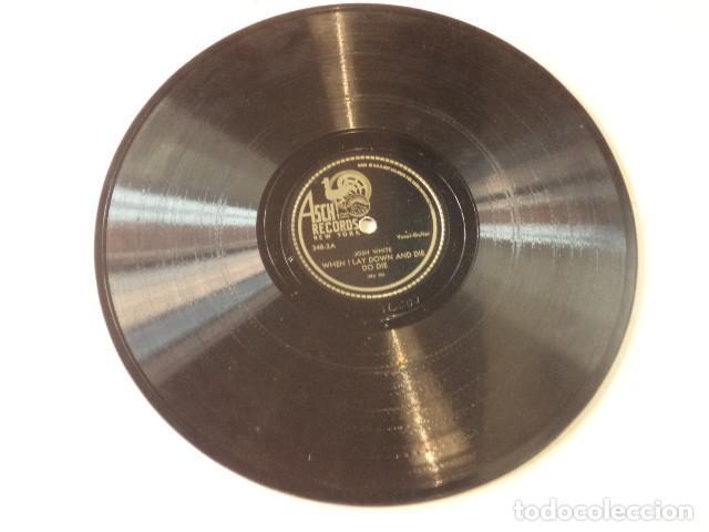 Discos de pizarra: ÁLBUM CON 3 DISCOS 78 RPM SONGS BY JOSH WHITE - USA - Foto 7 - 171106407