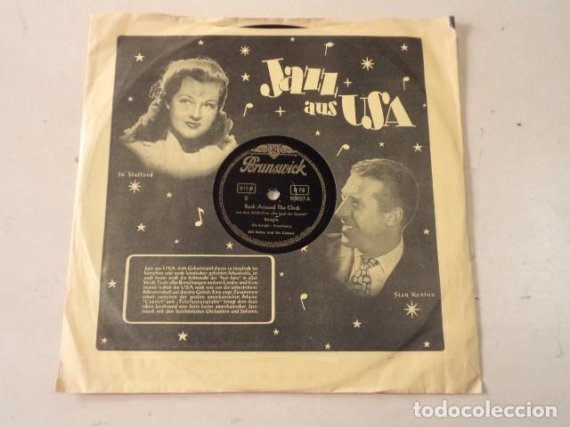 DISCO 78 RPM BILL HALLEY - ROCK AROUND THE CLOCK/A.B.C. BOOGIE - ALEMANIA (Música - Discos - Pizarra - Jazz, Blues, R&B, Soul y Gospel)