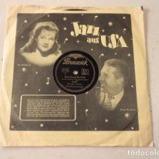 Discos de pizarra: DISCO 78 RPM BILL HALLEY - ROCK AROUND THE CLOCK/A.B.C. BOOGIE - ALEMANIA. Lote 171107054