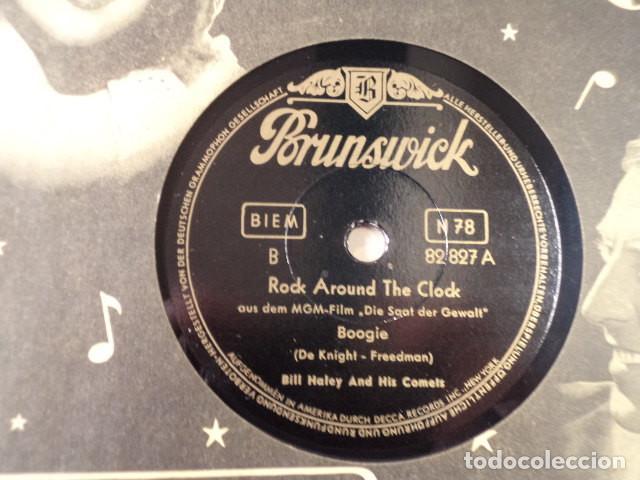 Discos de pizarra: DISCO 78 RPM BILL HALLEY - ROCK AROUND THE CLOCK/A.B.C. BOOGIE - ALEMANIA - Foto 2 - 171107054