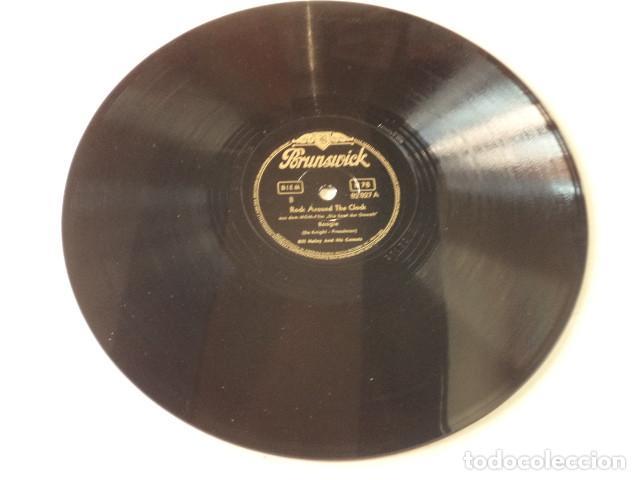 Discos de pizarra: DISCO 78 RPM BILL HALLEY - ROCK AROUND THE CLOCK/A.B.C. BOOGIE - ALEMANIA - Foto 3 - 171107054