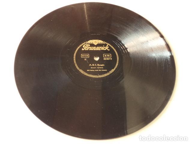 Discos de pizarra: DISCO 78 RPM BILL HALLEY - ROCK AROUND THE CLOCK/A.B.C. BOOGIE - ALEMANIA - Foto 4 - 171107054