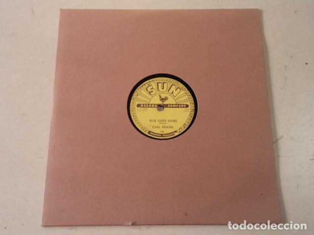 DISCO 78 RPM CARL PERKINS - BLUE SUEDE SHOES/HONEY, DON'T ! - SUN RECORDS - USA (Música - Discos - Pizarra - Jazz, Blues, R&B, Soul y Gospel)