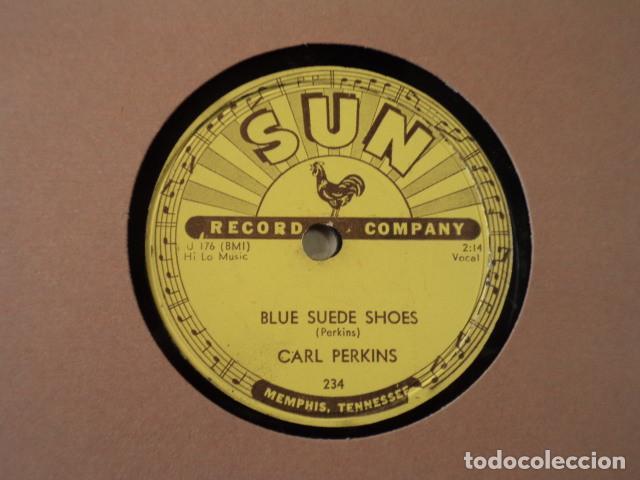 Discos de pizarra: DISCO 78 RPM CARL PERKINS - BLUE SUEDE SHOES/HONEY, DONT ! - SUN RECORDS - USA - Foto 2 - 171107163