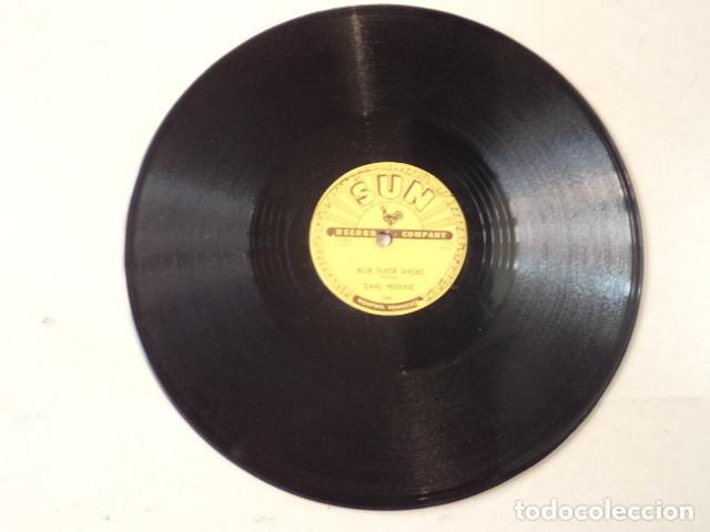 Discos de pizarra: DISCO 78 RPM CARL PERKINS - BLUE SUEDE SHOES/HONEY, DONT ! - SUN RECORDS - USA - Foto 3 - 171107163
