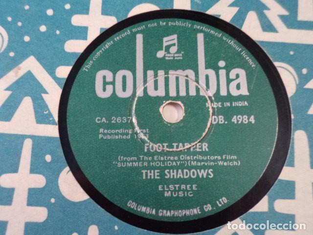 DISCO 78 RPM THE SHADOWS - FOOT TAPPER/THE BREEZE AND I - INDIA (Música - Discos - Pizarra - Jazz, Blues, R&B, Soul y Gospel)