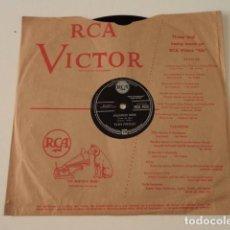 Discos de pizarra: DISCO 78 RPM ELVIS PRESLEY - JAILHOUSE ROCK/TREAT ME NICE - GREAT BRITAIN. Lote 171107653