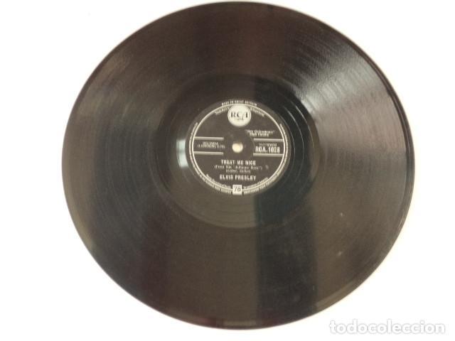 Discos de pizarra: DISCO 78 RPM ELVIS PRESLEY - JAILHOUSE ROCK/TREAT ME NICE - GREAT BRITAIN - Foto 5 - 171107653