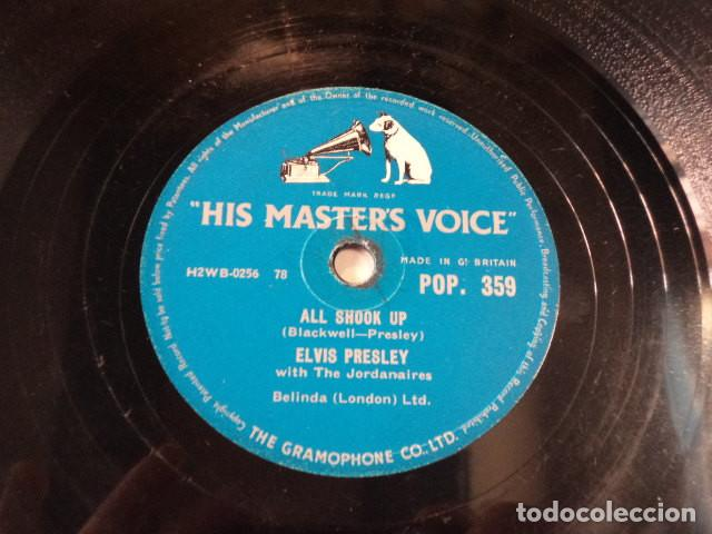 DISCO 78 RPM ELVIS PRESLEY AND THE JORDANAIRES - ALL SHOOK UP/THAT'S WHEN YOUR… - GREAT BRITAIN (Música - Discos - Pizarra - Jazz, Blues, R&B, Soul y Gospel)