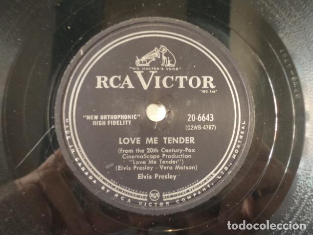 DISCO 78 RPM ELVIS PRESLEY - LOVE ME TENDER/ANYWAY YOU WANT ME - CANADÁ (Música - Discos - Pizarra - Jazz, Blues, R&B, Soul y Gospel)