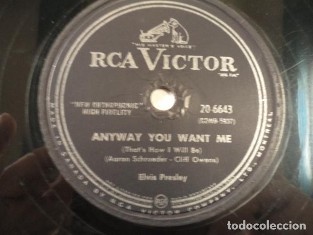 Discos de pizarra: DISCO 78 RPM ELVIS PRESLEY - LOVE ME TENDER/ANYWAY YOU WANT ME - CANADÁ - Foto 3 - 171108237