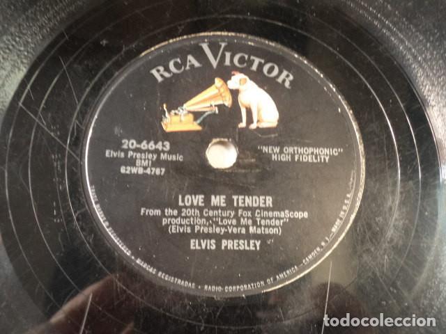 DISCO 78 RPM ELVIS PRESLEY - LOVE ME TENDER/ANYWAY YOU WANT ME - USA (Música - Discos - Pizarra - Jazz, Blues, R&B, Soul y Gospel)