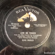 Discos de pizarra: DISCO 78 RPM ELVIS PRESLEY - LOVE ME TENDER/ANYWAY YOU WANT ME - USA. Lote 171109197