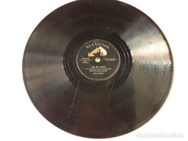 Discos de pizarra: DISCO 78 RPM ELVIS PRESLEY - LOVE ME TENDER/ANYWAY YOU WANT ME - USA - Foto 2 - 171109197