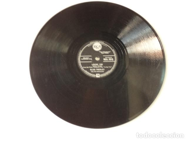 Discos de pizarra: DISCO 78 RPM ELVIS PRESLEY AND THE JORDANAIRES - LOVING YOU/TEDDY BEAR - GREAT BRITAIN - Foto 2 - 171109357