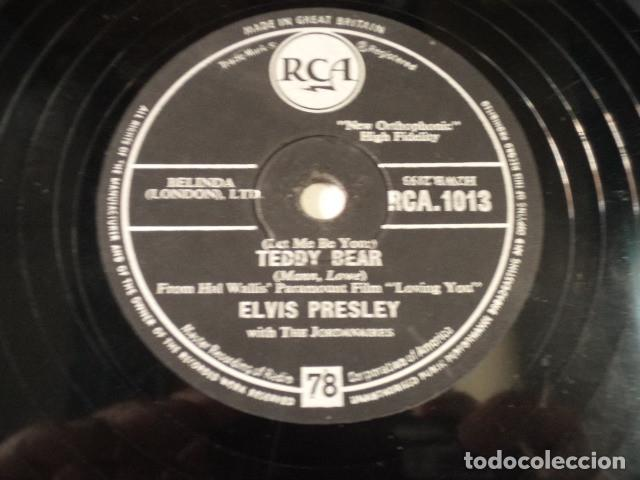 Discos de pizarra: DISCO 78 RPM ELVIS PRESLEY AND THE JORDANAIRES - LOVING YOU/TEDDY BEAR - GREAT BRITAIN - Foto 3 - 171109357