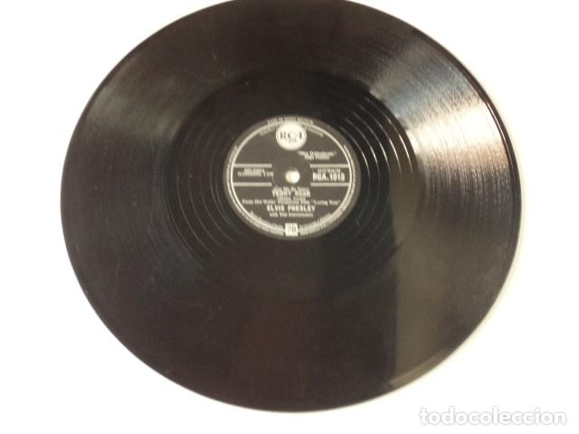 Discos de pizarra: DISCO 78 RPM ELVIS PRESLEY AND THE JORDANAIRES - LOVING YOU/TEDDY BEAR - GREAT BRITAIN - Foto 4 - 171109357
