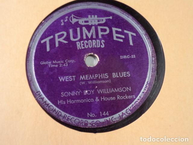Discos de pizarra: DISCO 78 RPM SONNY BOY WILLIAMSON HIS HARMONICA & HOUSE ROCKERS - WEST MEMPHIS BLUES/I CROSS… - Foto 1 - 171109435