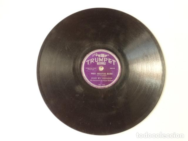 Discos de pizarra: DISCO 78 RPM SONNY BOY WILLIAMSON HIS HARMONICA & HOUSE ROCKERS - WEST MEMPHIS BLUES/I CROSS… - Foto 3 - 171109435