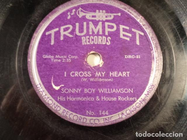 Discos de pizarra: DISCO 78 RPM SONNY BOY WILLIAMSON HIS HARMONICA & HOUSE ROCKERS - WEST MEMPHIS BLUES/I CROSS… - Foto 4 - 171109435