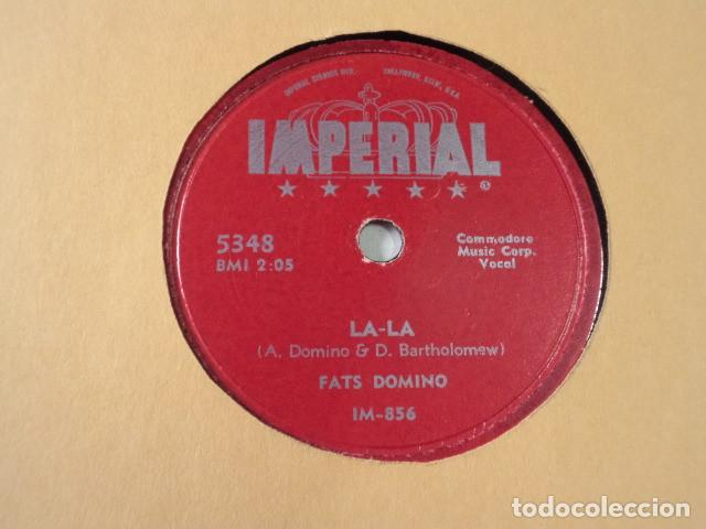 DISCO 78 RPM FATS DOMINO - LA-LA/AIN'T IT A SHAME - USA (Música - Discos - Pizarra - Jazz, Blues, R&B, Soul y Gospel)
