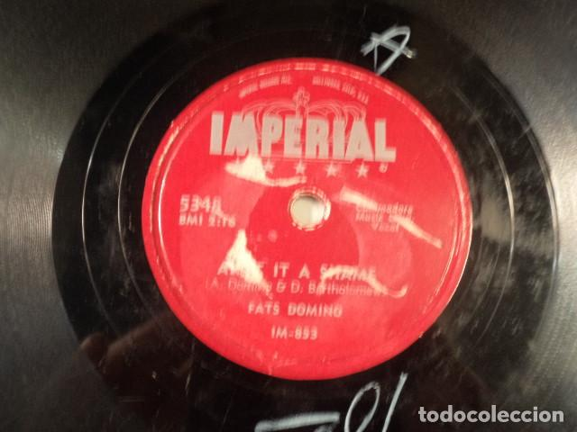 Discos de pizarra: DISCO 78 RPM FATS DOMINO - LA-LA/AINT IT A SHAME - USA - Foto 3 - 171109790