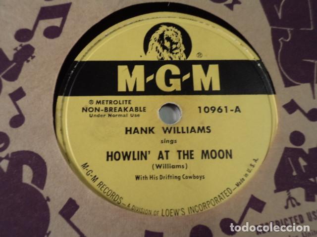 Discos de pizarra: DISCO 78 RPM HANK WILLIAMS - HOWLIN AT THE MOON/I CANT HELP IT - USA - Foto 2 - 171110035