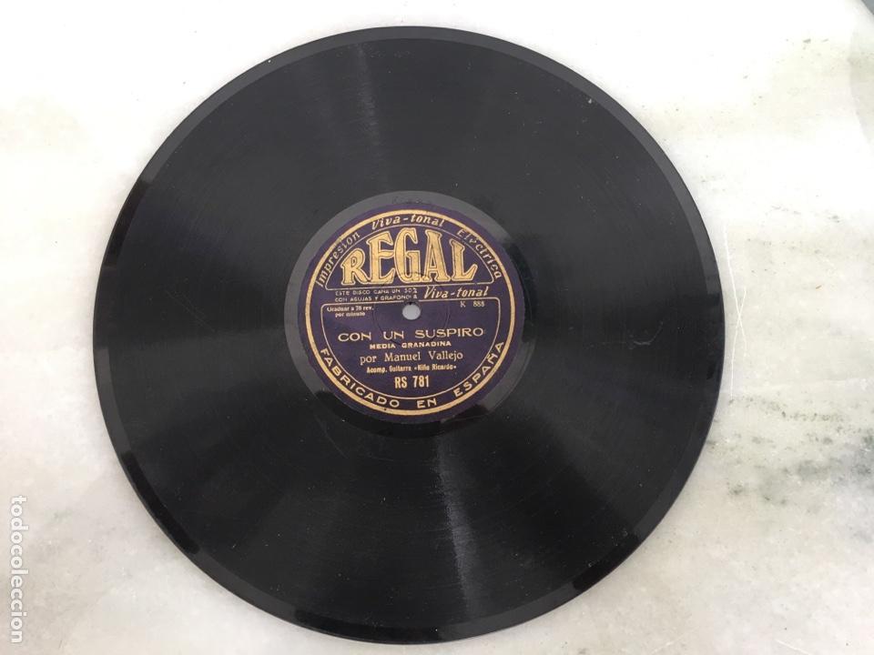 DISCO PIZARRA MANUEL VALLEJO FANDANGO MEDIA GRANADINA REGAL (Música - Discos - Pizarra - Flamenco, Canción española y Cuplé)