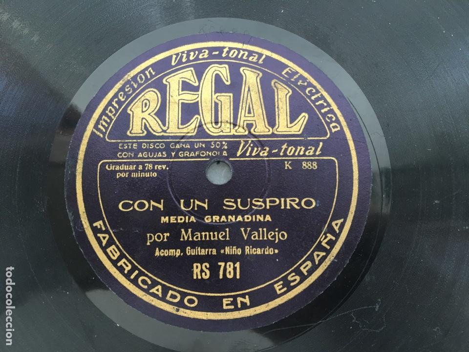 Discos de pizarra: Disco pizarra Manuel Vallejo fandango media granadina Regal - Foto 2 - 171185280