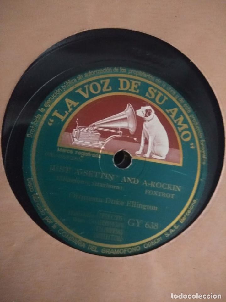 DISCO DE PIZARRA : ORQUESTA DUKE ELLINGTON : JUST-A-SETTIN' AND A-ROCKIN' + LUNA SOBRE CUBA (Música - Discos - Pizarra - Jazz, Blues, R&B, Soul y Gospel)