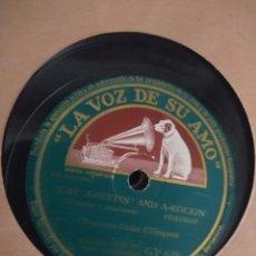 Discos de pizarra: DISCO DE PIZARRA : ORQUESTA DUKE ELLINGTON : JUST-A-SETTIN' AND A-ROCKIN' + LUNA SOBRE CUBA. Lote 171532337