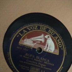 Discos de pizarra: DISCO DE PIZARRA : CONCHITA PIQUER : ROPA BLANCA + CRIA CUERVOS. Lote 222444441