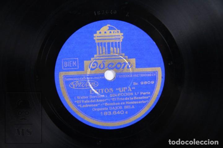 Discos de pizarra: Disco Piedra / Pizarra - Éxitos UFA. Selección. Orquesta Dajos Bela - Odeon - Foto 2 - 171978455