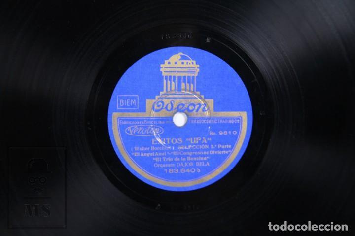 Discos de pizarra: Disco Piedra / Pizarra - Éxitos UFA. Selección. Orquesta Dajos Bela - Odeon - Foto 4 - 171978455