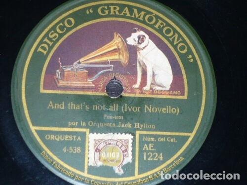 DISCO 78 RPM - GRAMOFONO - ORQUESTA JACK HYLTON - FOXTROT - CHILI BOM BOM - JAZZ - PIZARRA (Música - Discos - Pizarra - Jazz, Blues, R&B, Soul y Gospel)