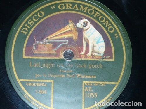 DISCO 78 RPM - GRAMOFONO - ORQUESTA JACK HYLTON - ORQ PAUL WHITEMAN - FOXTROT - PIZARRA (Música - Discos - Pizarra - Jazz, Blues, R&B, Soul y Gospel)