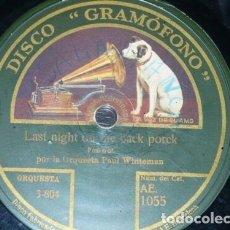 Discos de pizarra: DISCO 78 RPM - GRAMOFONO - ORQUESTA JACK HYLTON - ORQ PAUL WHITEMAN - FOXTROT - PIZARRA. Lote 172289069