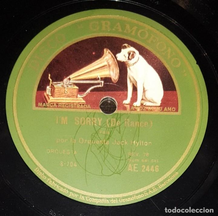 DISCO 78 RPM - GRAMOFONO - ORQUESTA JACK HYLTON - THE GLOW WORM - I´M SORRY - JAZZ - PIZARRA (Música - Discos - Pizarra - Jazz, Blues, R&B, Soul y Gospel)