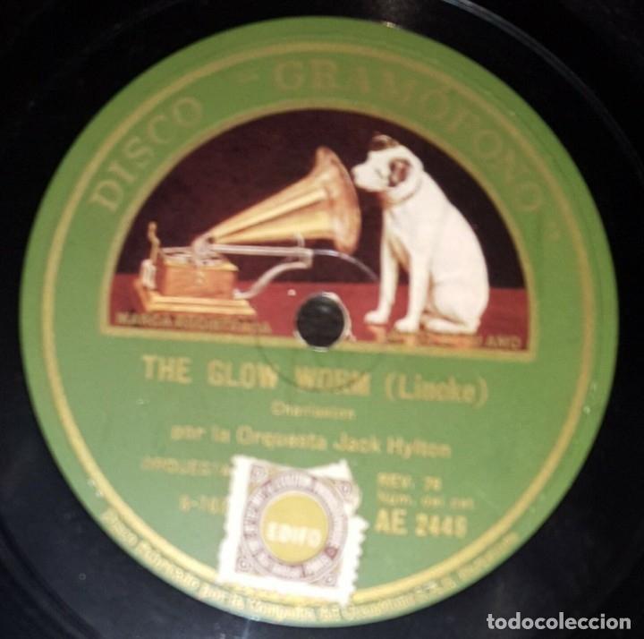 Discos de pizarra: DISCO 78 RPM - GRAMOFONO - ORQUESTA JACK HYLTON - THE GLOW WORM - I´M SORRY - JAZZ - PIZARRA - Foto 2 - 172289770