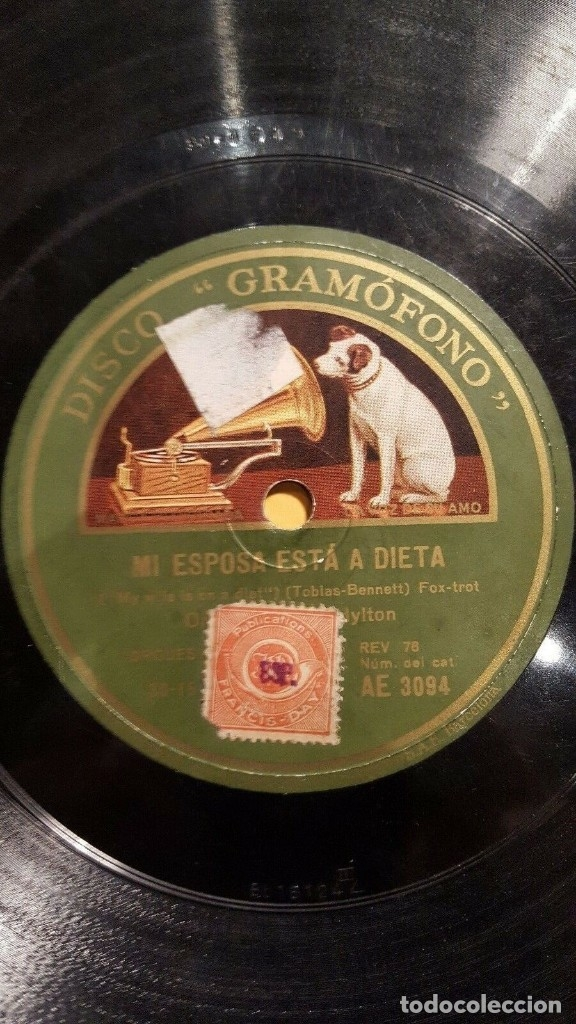 Discos de pizarra: DISCO 78 RPM - GRAMOFONO - ORQUESTA JACK HYLTON - TONDELEYO - GAY - FILM - WHITE CARGO - PIZARRA - Foto 2 - 172290394