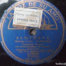 Discos de pizarra: CONCHITA PIQUER-DIME QUE ME QUIERES-ALMUDENA. Lote 172725617