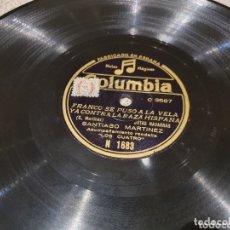 Discos de pizarra: 78 RPM HISTÓRICO FRANQUISTA. Lote 172763807