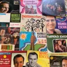 Discos de pizarra: 13 SINGLES DE MANOLO ESCOBAR . Lote 172832278