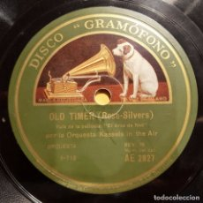 Discos de pizarra: DISCO 78 RPM - GRAMOFONO - ORQUESTA KASSELS IN THE AIR - ORQUESTA TROUBADOURS - PIZARRA. Lote 173132218
