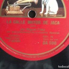 Discos de pizarra: MIGUEL FLETA. JOTA ARAGONESA. LA CALLE MAYOR DE JACA / EL AEROPLANO. PIZARRA 10P. Lote 277253373